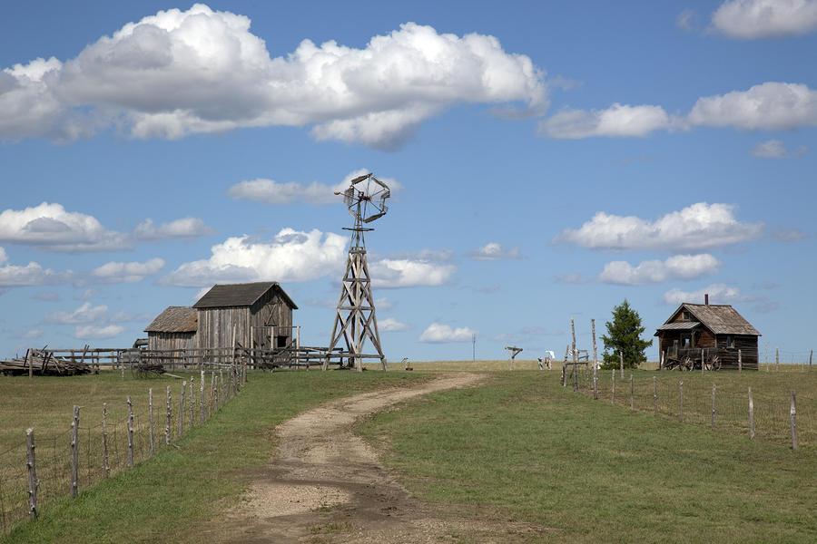 South Dakota: Windmill Photograph