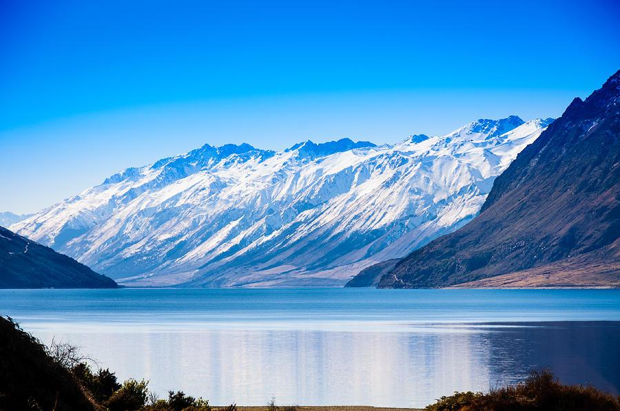 New Zealand Photograph - South Island Lake Wanaka New Zealand by John White