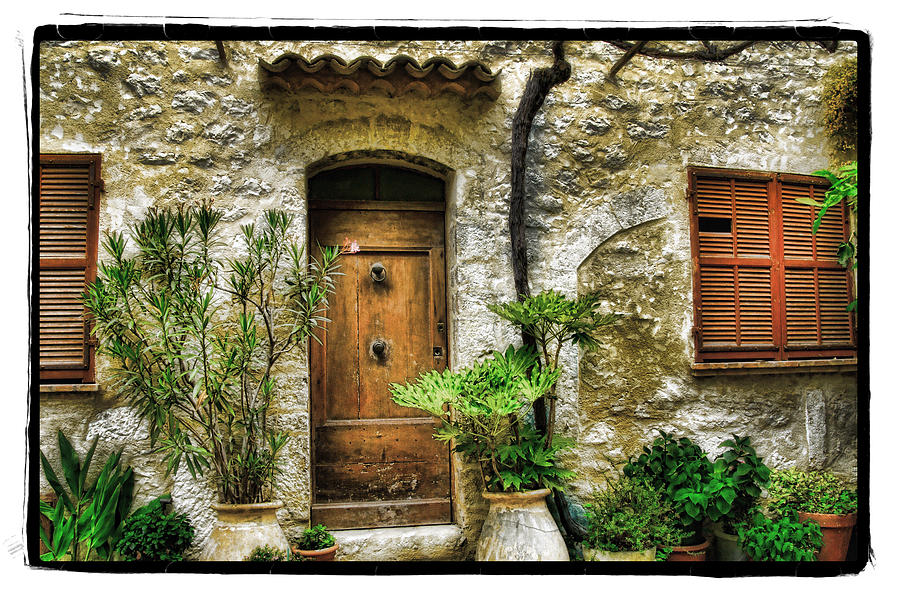 South Of France 1 Pyrography  - South Of France 1 Fine Art Print