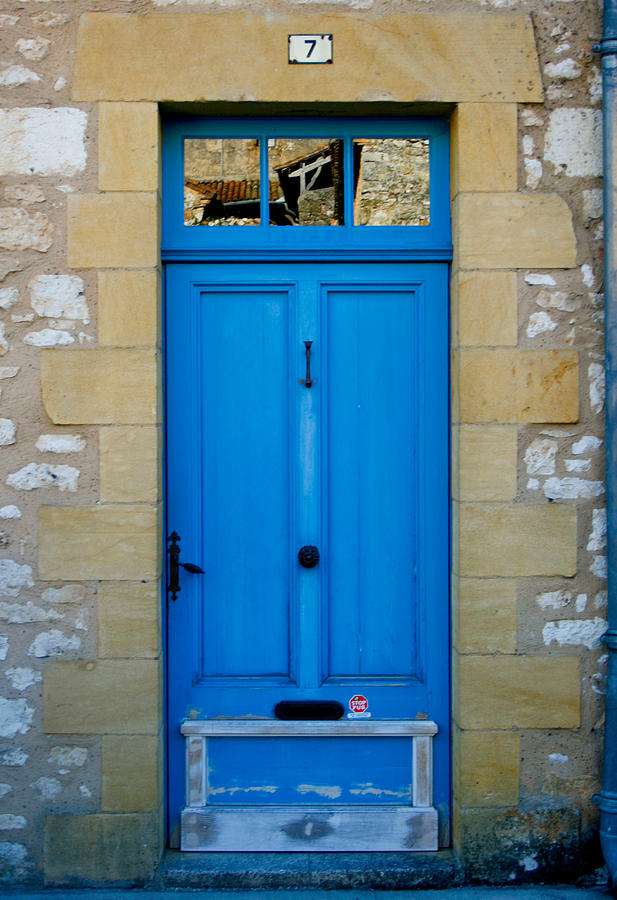 South Of France Rustic Blue Door  Photograph