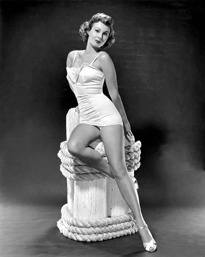 1950s Portraits Photograph - South Sea Woman, Virginia Mayo, 1953 by Everett