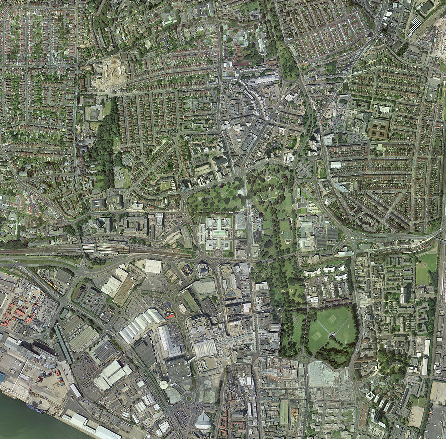Southampton Photograph - Southampton,uk, Aerial Image by Getmapping Plc