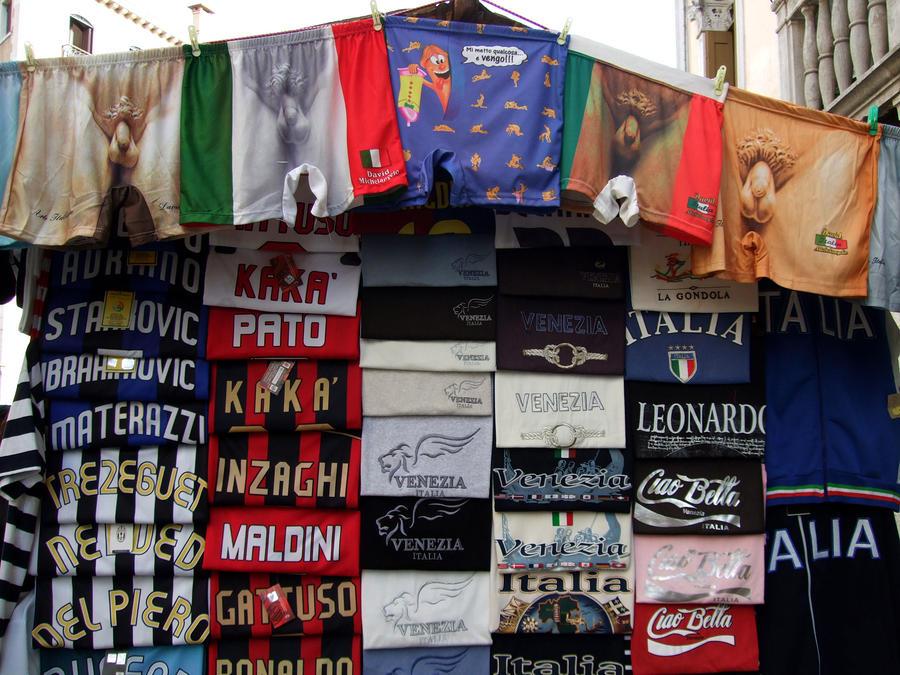 Souvenir Stand Venice Italy Photograph