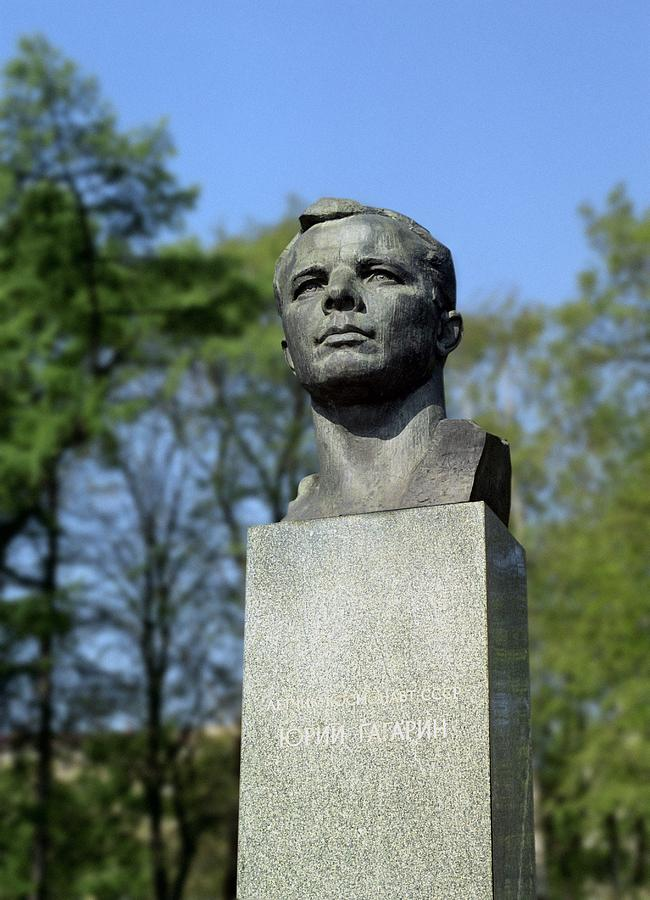 Soviet Monument To Yuri Gagarin Photograph