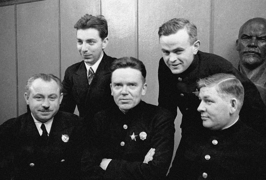 Soviet North Pole-1 Station Crew, 1939 Photograph