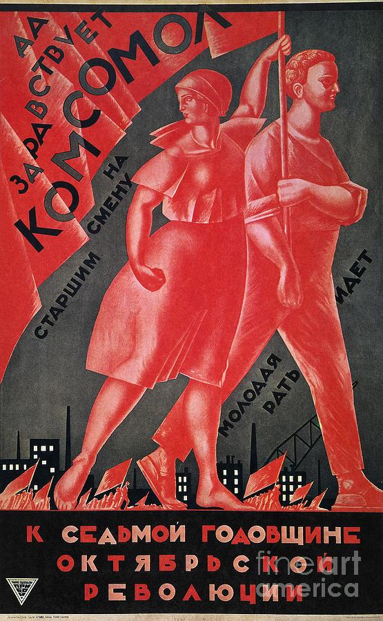Soviet Poster, 1924 Painting