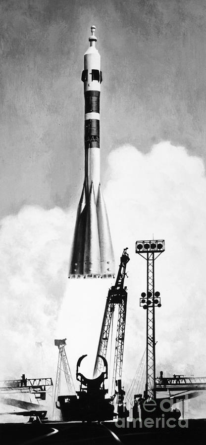 Soviet Soyuz Rocket, 1975 Photograph