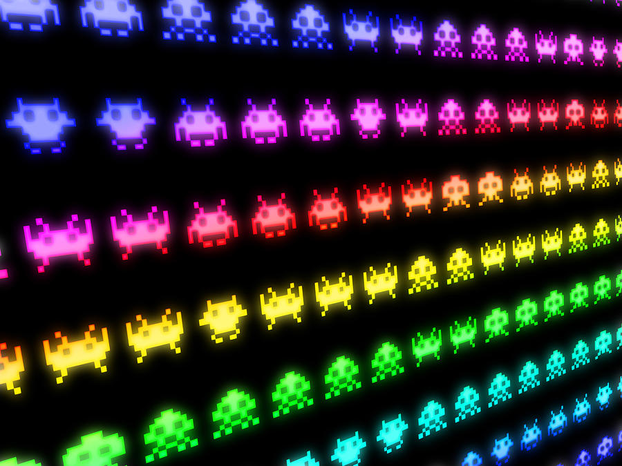 Space Invaders Digital Art  - Space Invaders Fine Art Print