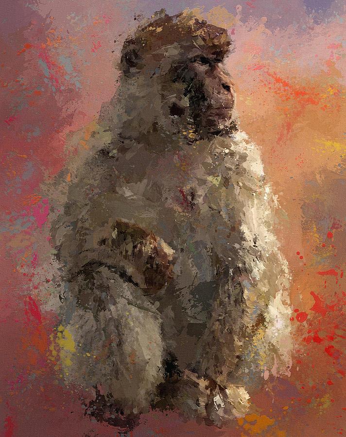Space Monkey Digital Art