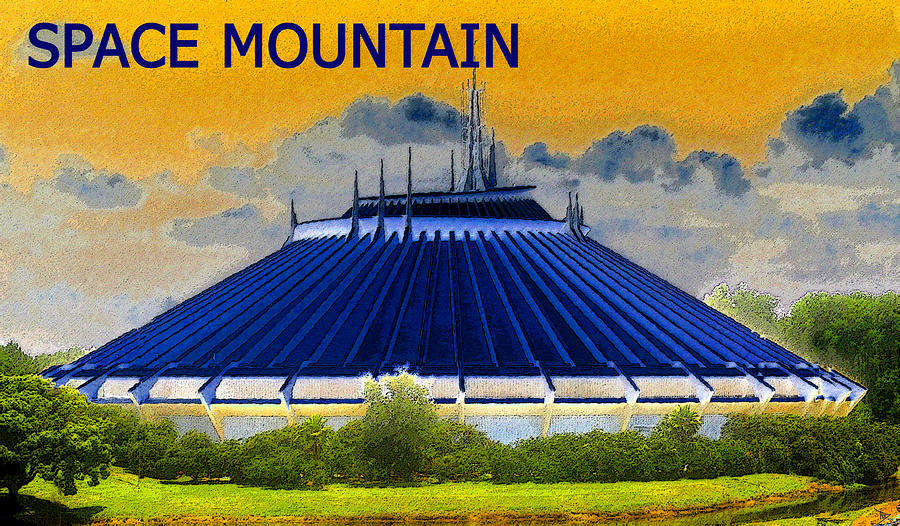 Space Mountain Painting  - Space Mountain Fine Art Print