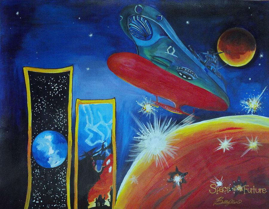Space Of The Future Painting  - Space Of The Future Fine Art Print