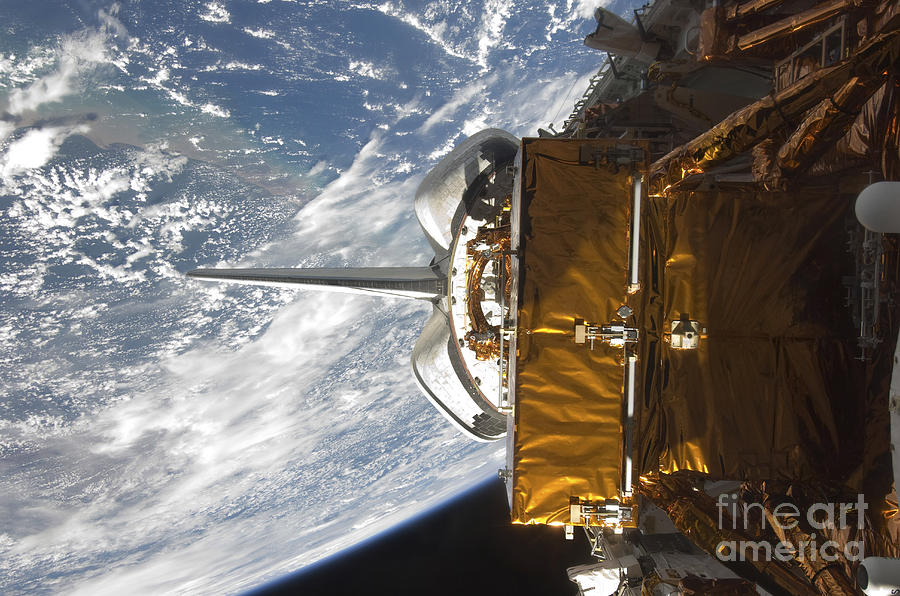 Space Shuttle Atlantis Payload Bay Photograph