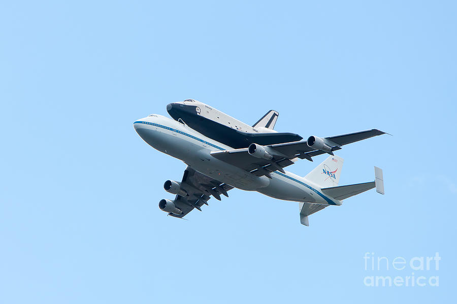 Space Shuttle Enterprise Arrives In New York City Photograph  - Space Shuttle Enterprise Arrives In New York City Fine Art Print
