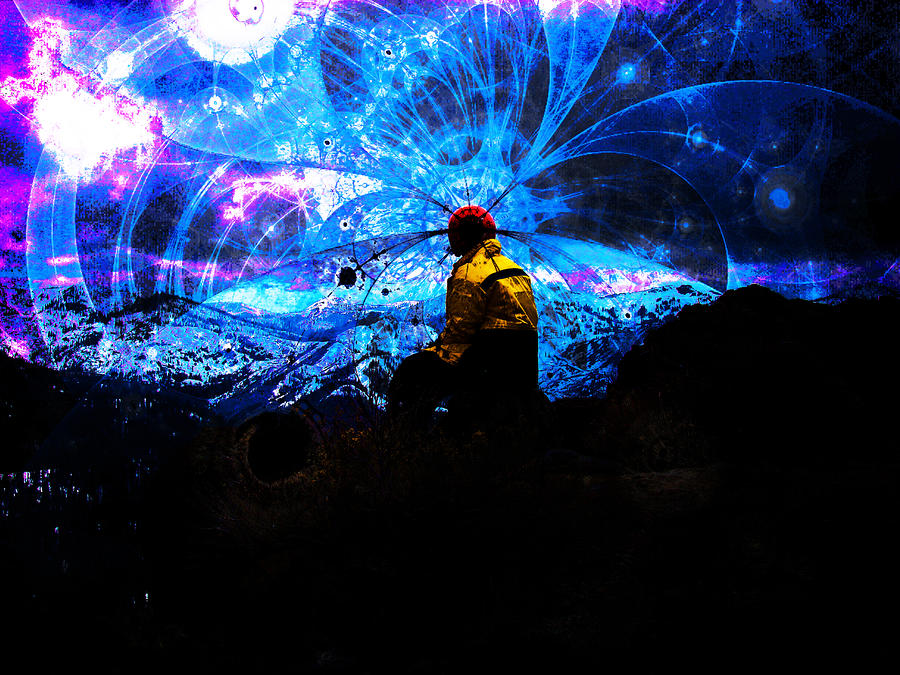 Space Watcher Digital Art