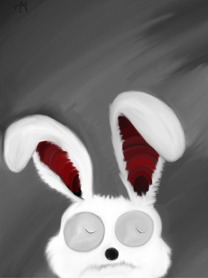 Spaced Bunny Painting