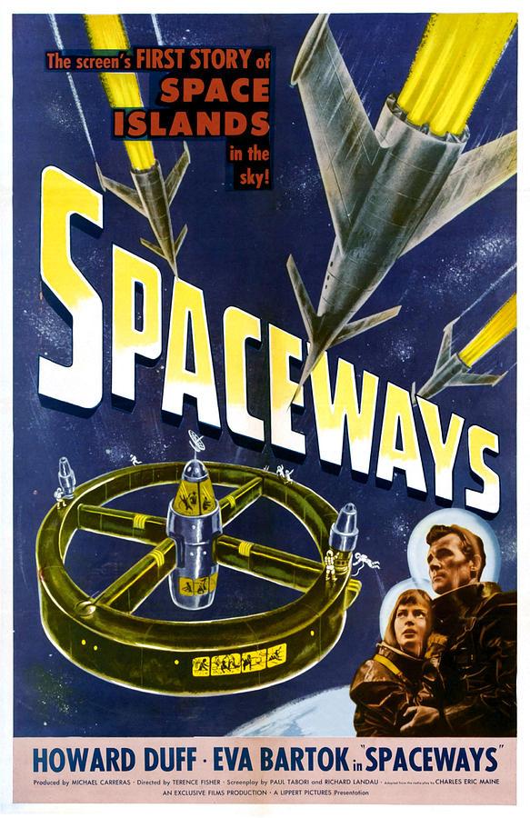 Spaceways, Eva Bartok, Howard Duff Photograph