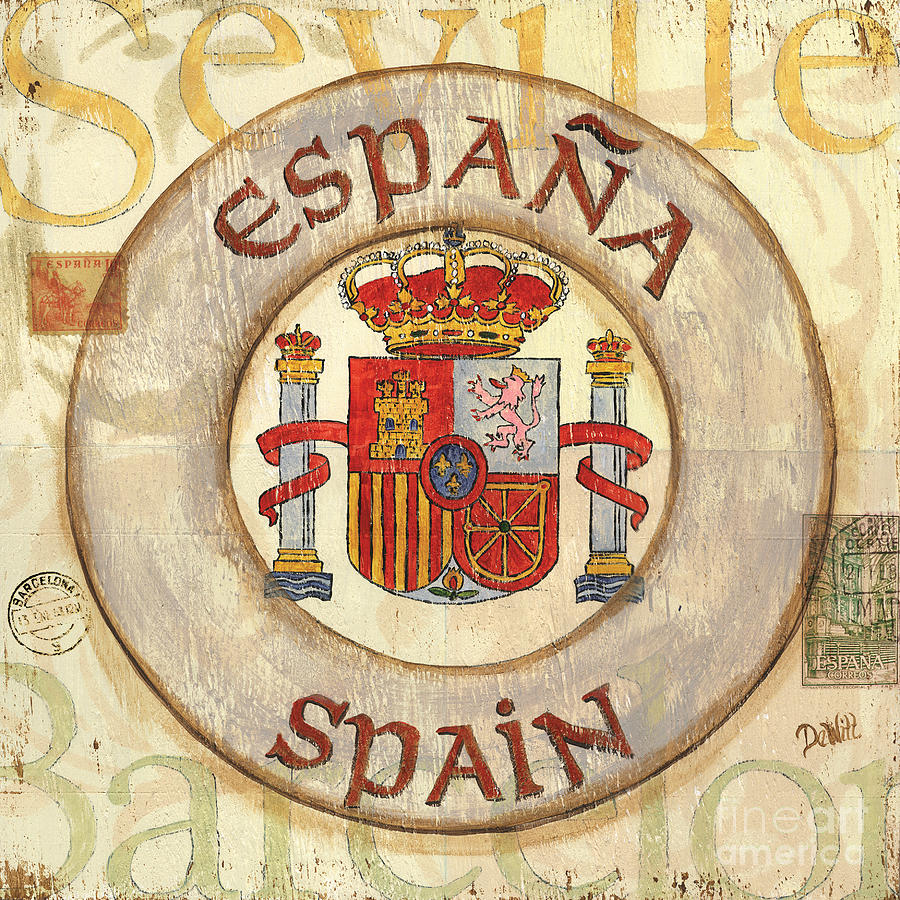 Spain Coat Of Arms Painting  - Spain Coat Of Arms Fine Art Print