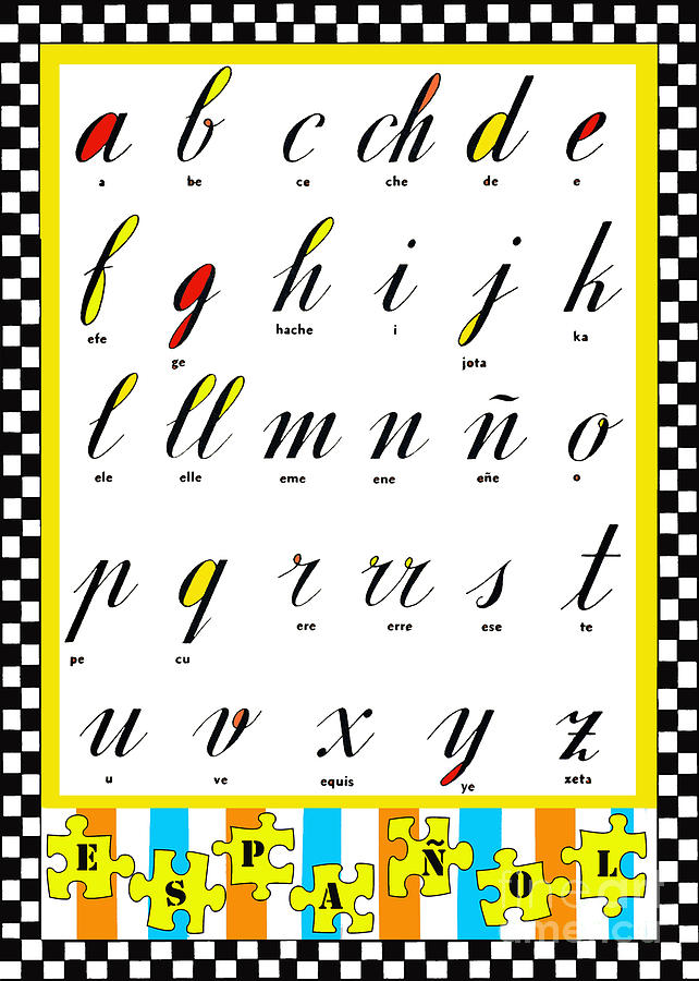 Spanish Alphabet Juvenile Licensing Art Mixed Media