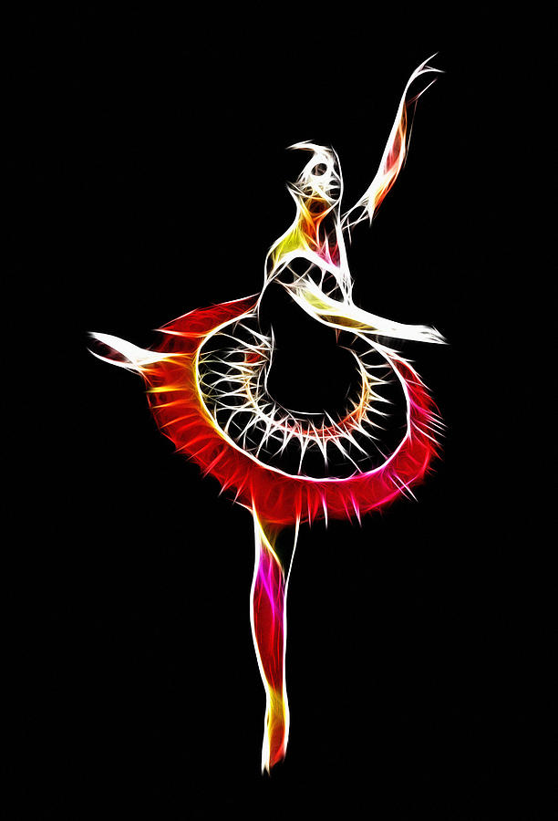 Spanish Ballerina Digital Art  - Spanish Ballerina Fine Art Print