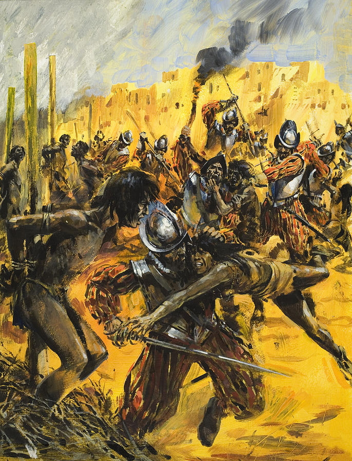 Spanish Conquistadors Painting By Graham Coton