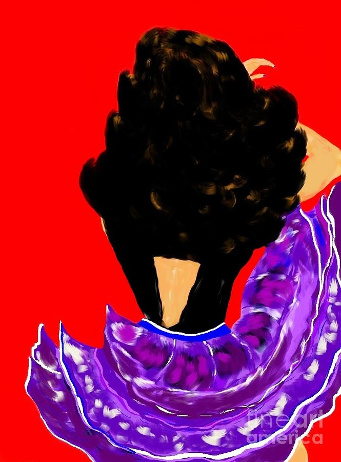 Spanish Dancer 2 Drawing  - Spanish Dancer 2 Fine Art Print