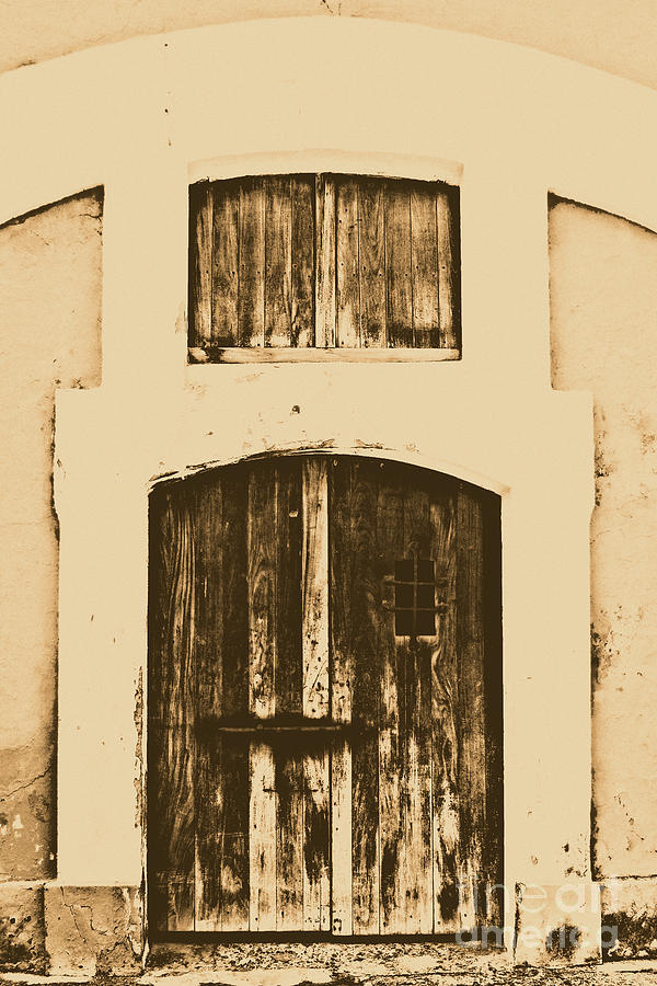 Spanish Fort Door Castillo San Felipe Del Morro San Juan Puerto Rico Prints Rustic Digital Art  - Spanish Fort Door Castillo San Felipe Del Morro San Juan Puerto Rico Prints Rustic Fine Art Print