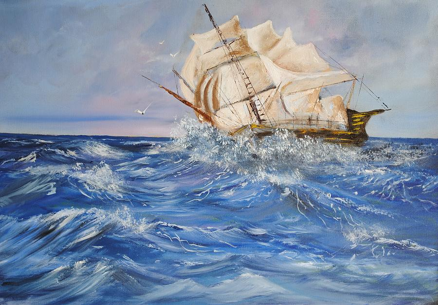 Spanish Galleon Painting
