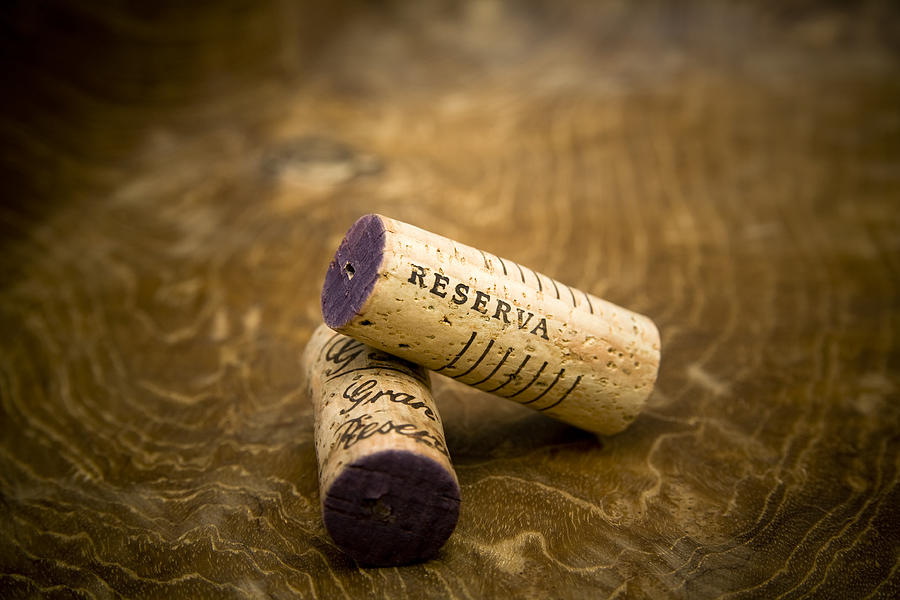 Spanish wine corks reserve and gran reserva large canvas print