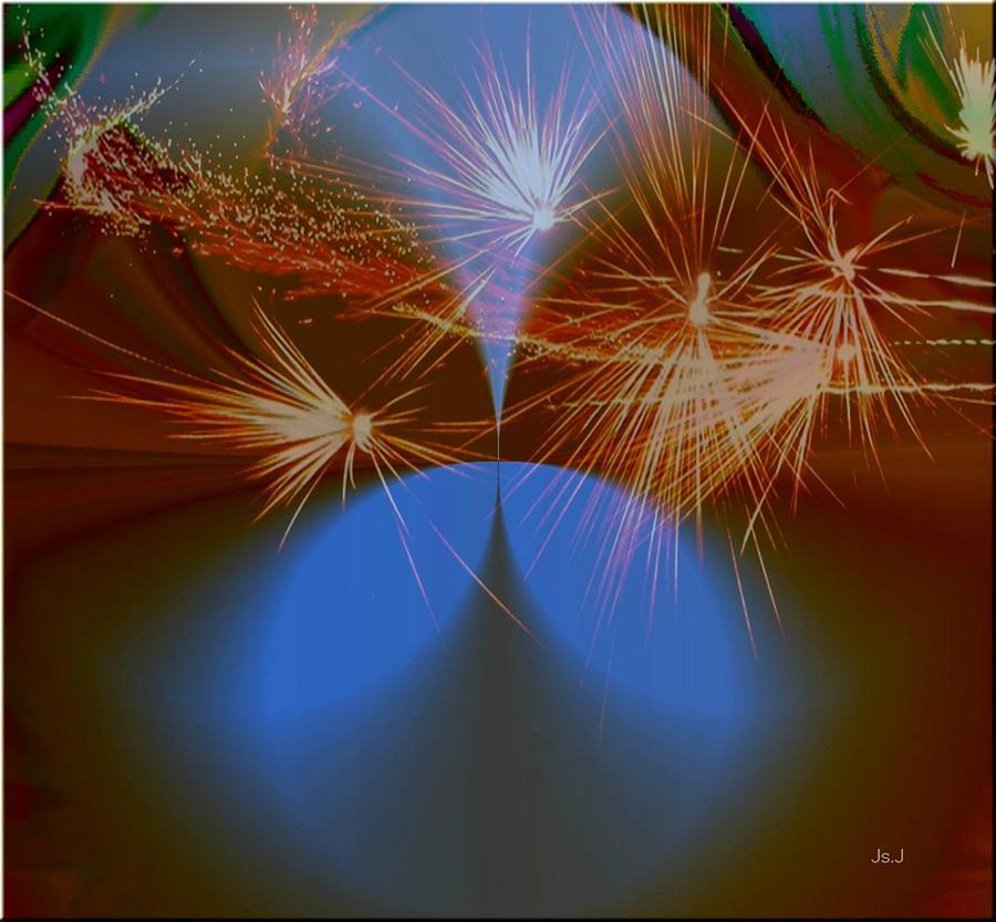 Digital Art Digital Art - Sparkled by Jan Steadman-Jackson