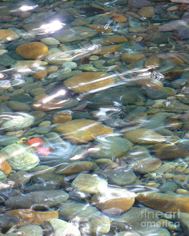 Sparkling Water On Rocky Creek Photograph  - Sparkling Water On Rocky Creek Fine Art Print