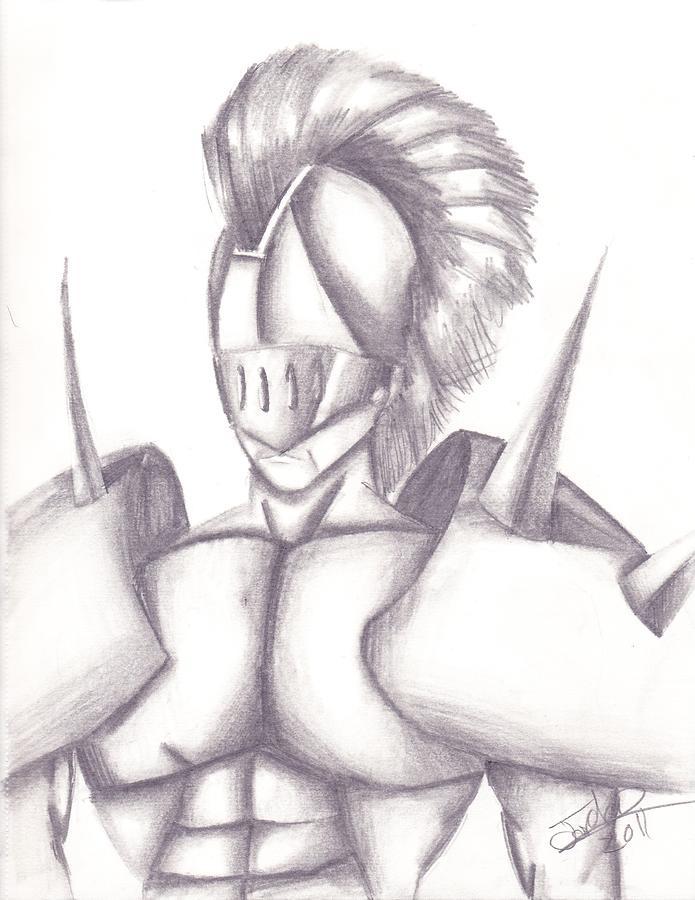 Spartan Drawing by Jordan Jackson