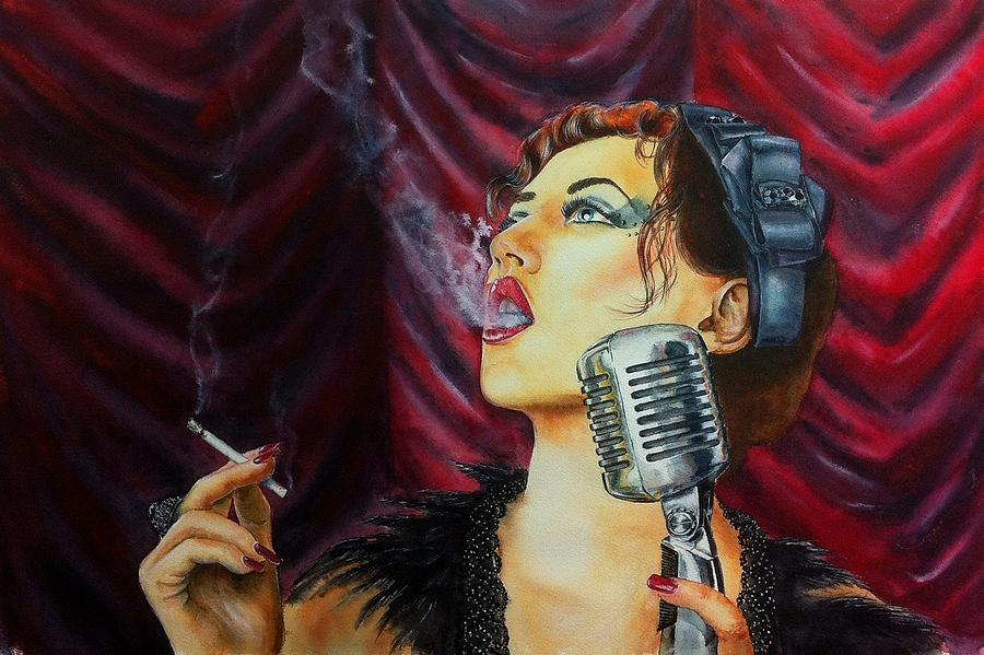 Woman Painting - Speakeasy Blues by Don Whitson