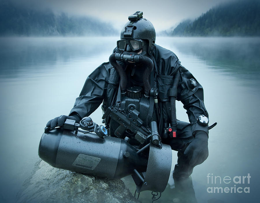 Special Operations Forces Combat Diver Photograph  - Special Operations Forces Combat Diver Fine Art Print