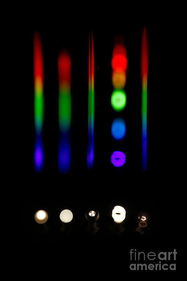 Spectra Of Energy Efficient Lights Photograph  - Spectra Of Energy Efficient Lights Fine Art Print