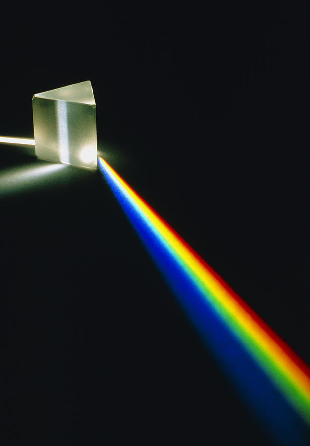 Spectrum Photograph - Spectral Light From Prism by David Parker