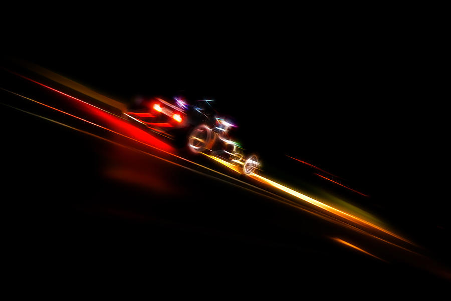 Speeding Hot Rod Photograph  - Speeding Hot Rod Fine Art Print