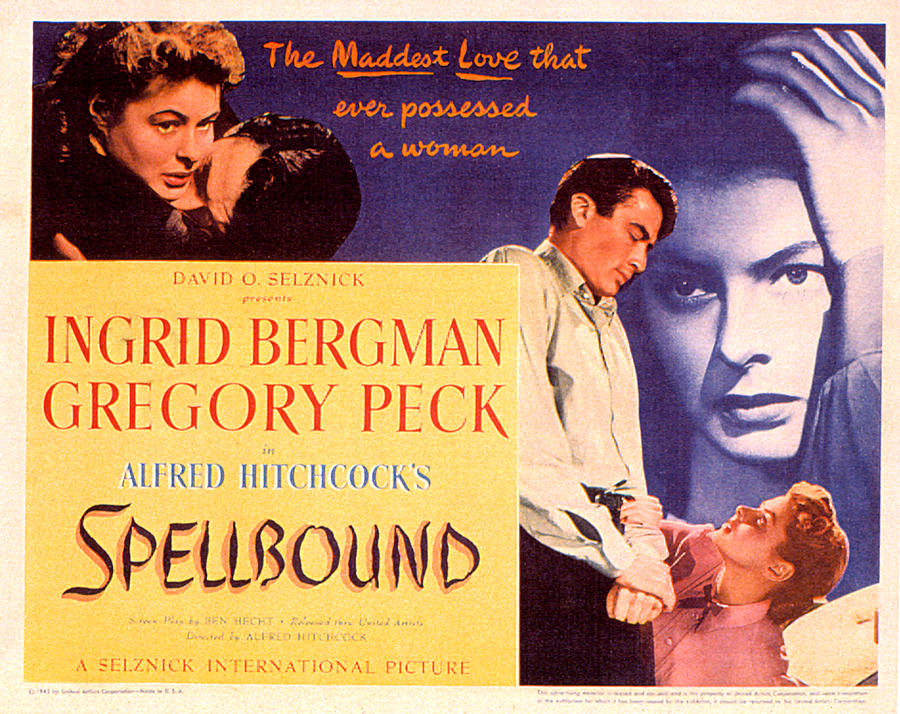 1940s Movies Photograph - Spellbound, Ingrid Bergman, Gregory by Everett