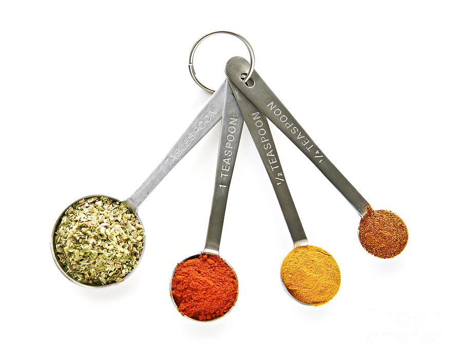 Spices In Measuring Spoons Photograph