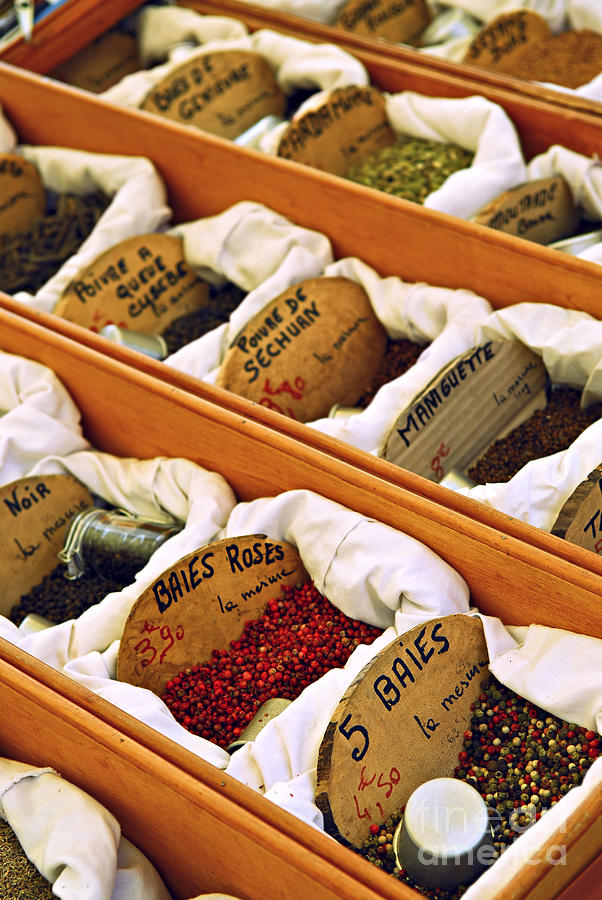 Spices On The Market Photograph
