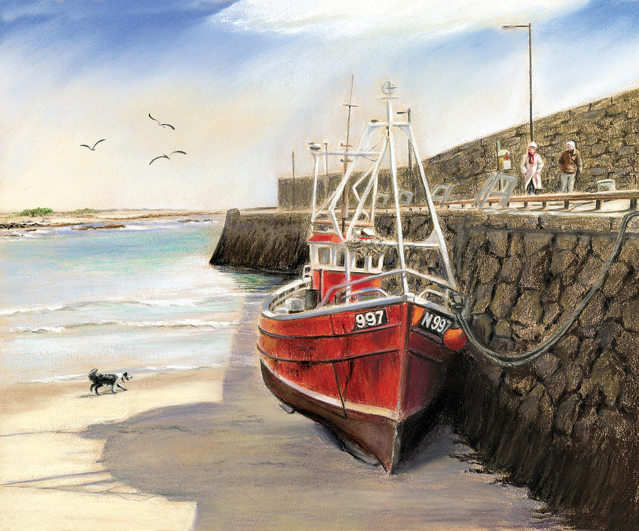 Spiddal Pier Painting