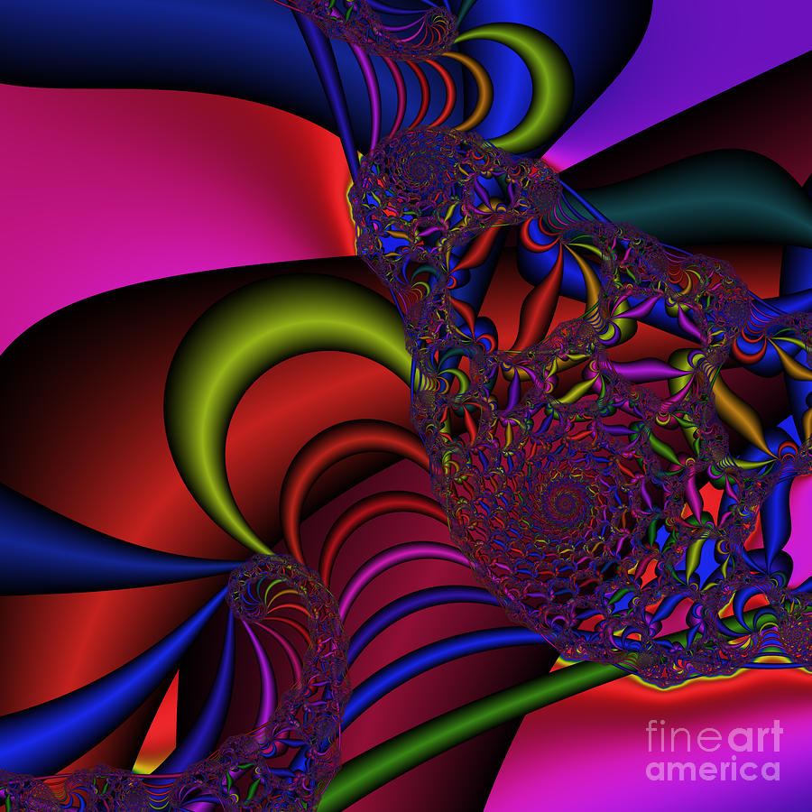 Spider Web 177 Digital Art  - Spider Web 177 Fine Art Print