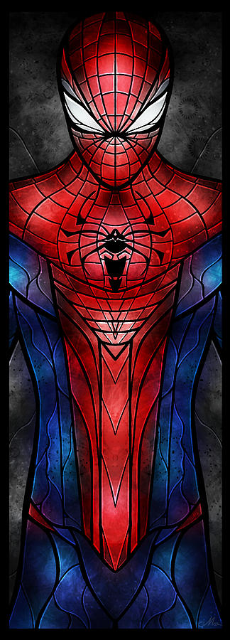 Spidey Digital Art  - Spidey Fine Art Print