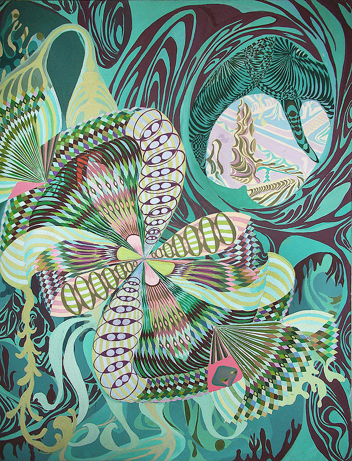 Spinner In Bloom Painting