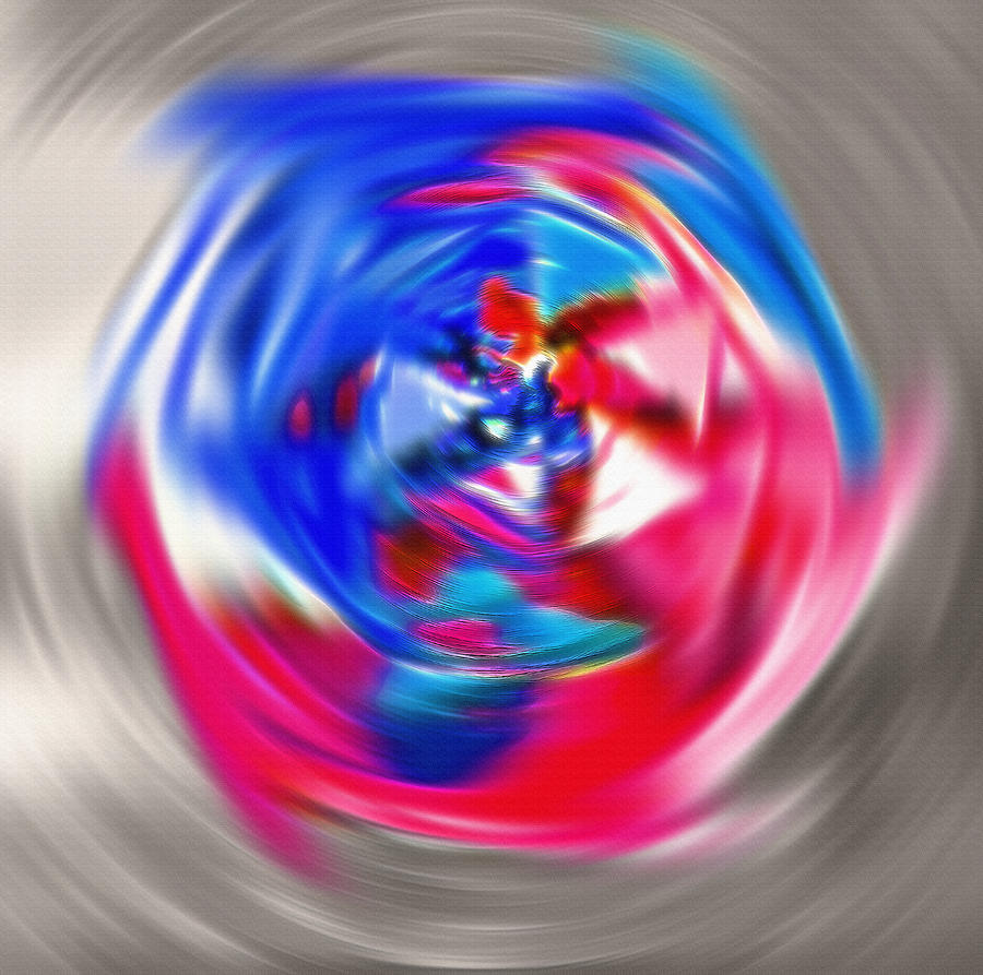 Pinwheel Photograph - Spinning Pinwheel - Americana by Steve Ohlsen