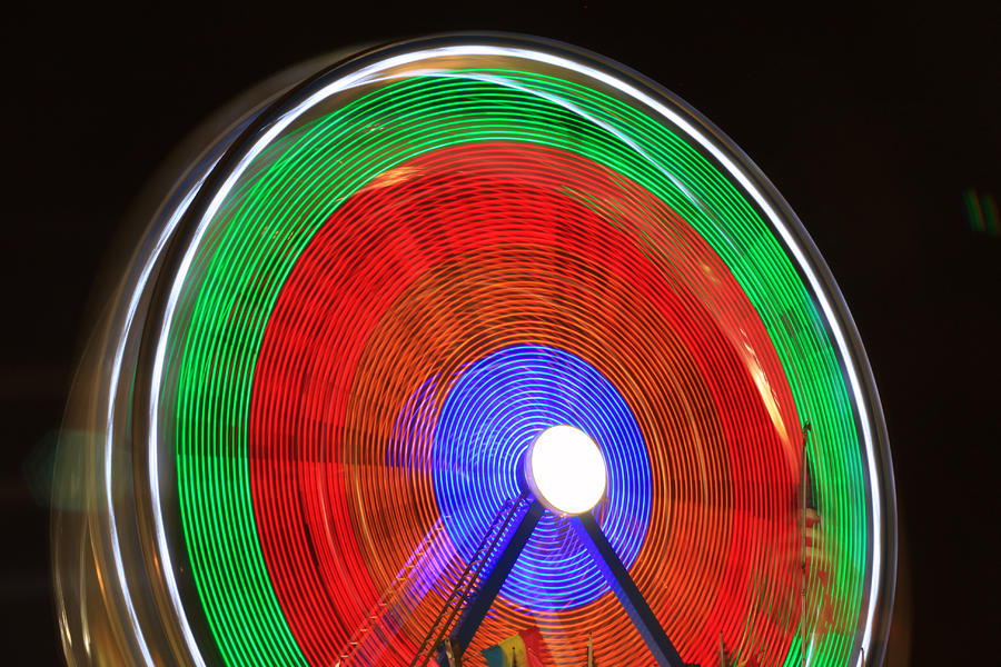 Spinning Wheels Photograph