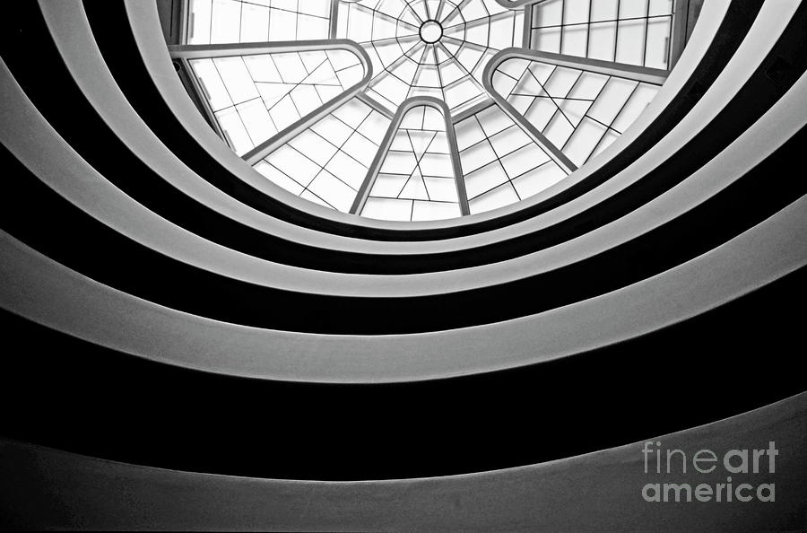 Spiral Staircase And Ceiling Inside The Guggenheim Photograph