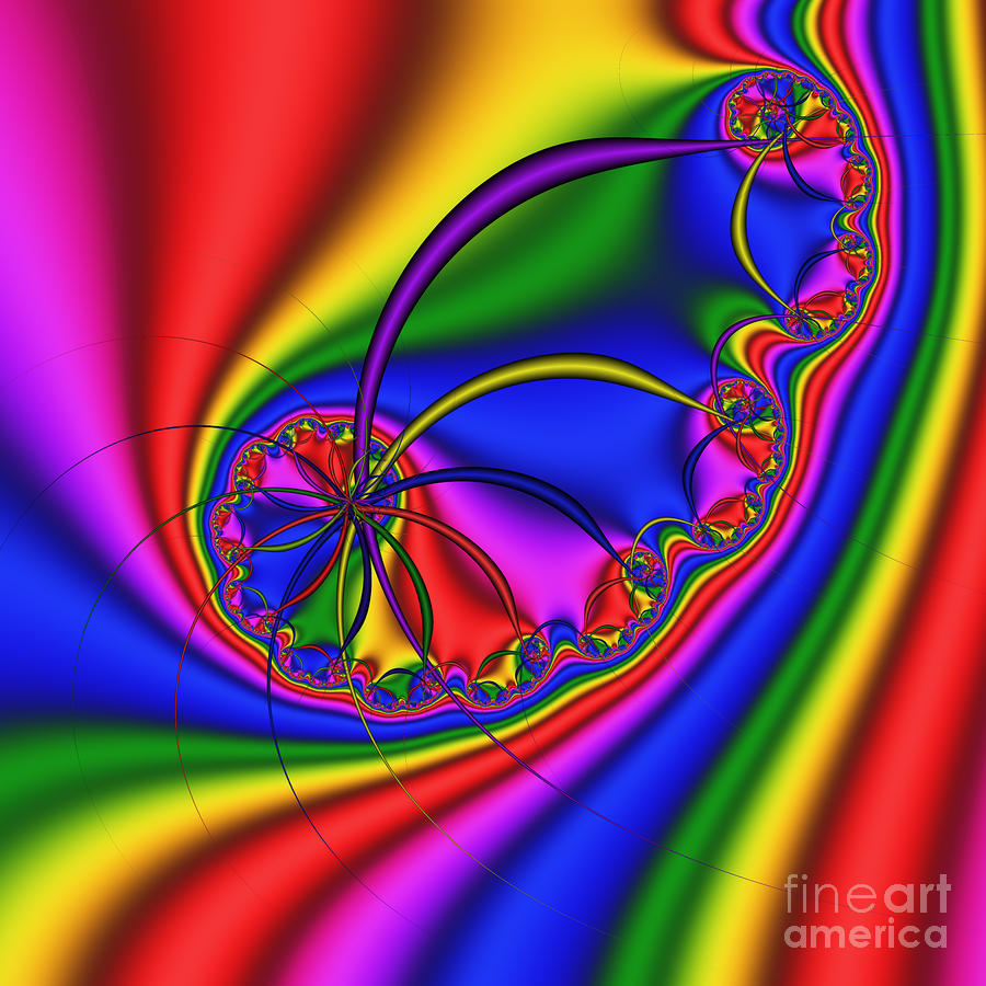 Spiraling Hair 198 Digital Art  - Spiraling Hair 198 Fine Art Print
