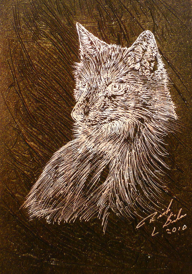 Spirit Fox  Painting  - Spirit Fox  Fine Art Print