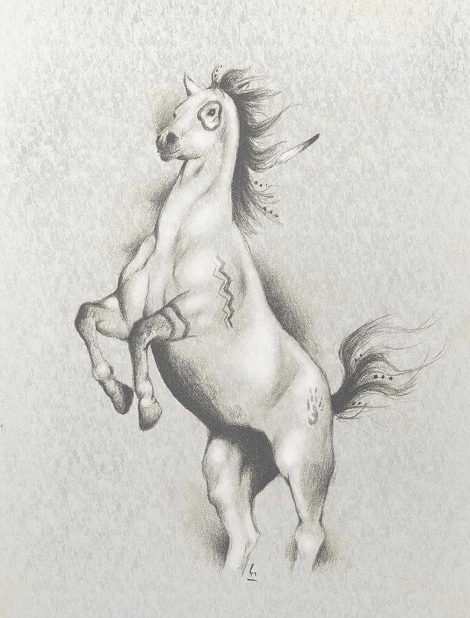 Spirit Horse Mixed Media
