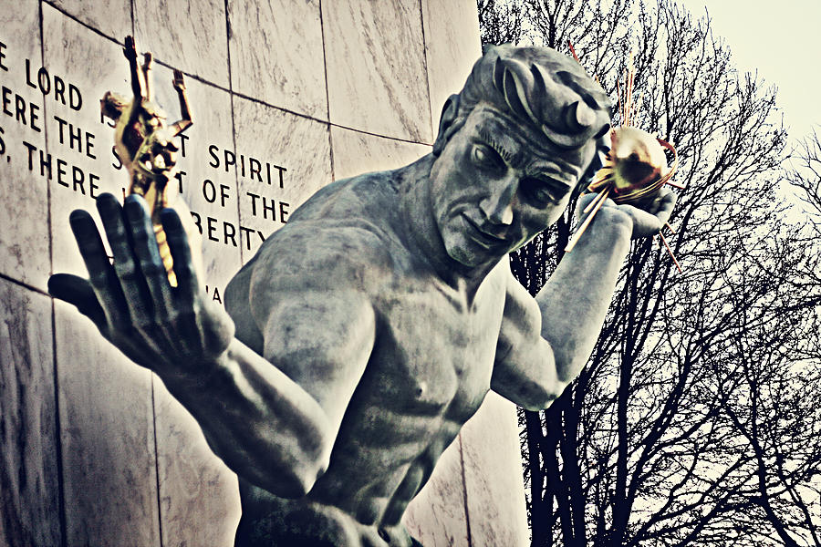 Spirit Of Detroit Photograph